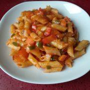 verduras con pasta